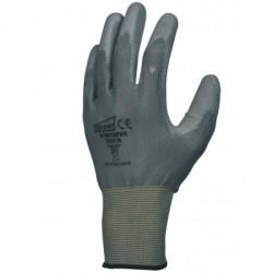 Gant polyuréthane (PU). Support polyester sans couture. Jauge 13.
