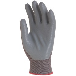 Gants fins tricotés polyamide gris, enduit mousse de nitrile 6240 de EUROTECHNIQUE