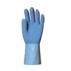 LOT DE 12 PAIRES DE GANTS LATEX ADHERISE EPAIS SUR JERSEY 30 CM 5220 DE EUROTECHNIQUE