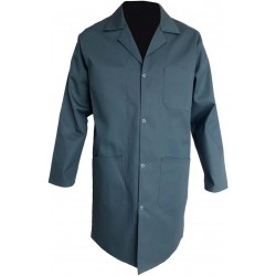 BLOUSE HOMME 65% POLYESTER 35% COTON VERT US A PRESSIONS 245 GR/M²