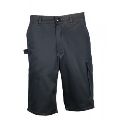 BERMUDA SHORT DE TRAVAIL TYPHON LIGHT NOIR 60% COTON 40% POLYESTER