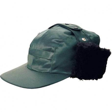 CASQUETTE CHAUDE HIVER IMPERMEABLE VERTE AVEC PROTEGE OREILLES WARM CAP DE COVERGUARD