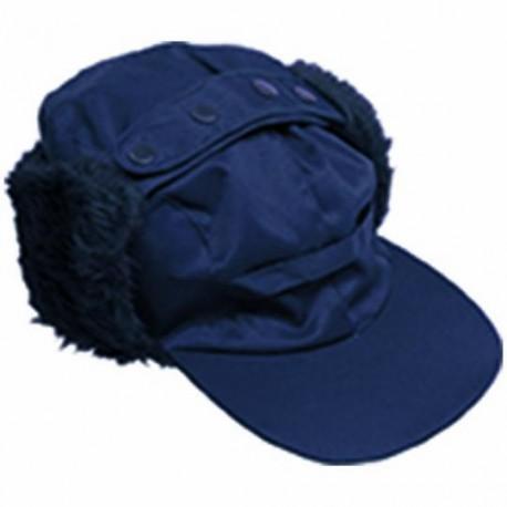 CASQUETTE CHAUDE HIVER IMPERMEABLE BLEUE AVEC PROTEGE OREILLES WARM CAP DE COVERGUARD