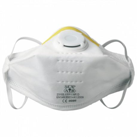 Masque antipoussière FFP1 NR D SL pliable, soupape 23105 de SUP AIR