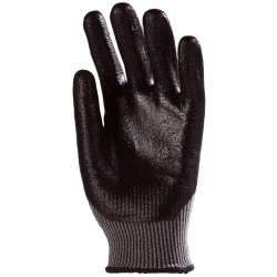 Lot de 10 paires de gants anticoupure niveau 5 enduction nitrile noir en 3/4 6960 de EUROTECHNIQUE