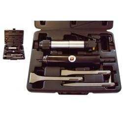 Coffret décapeur pneumatique complet avec 3 burins + kit dérouilleur Cedrey UT8631BK