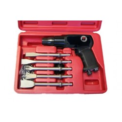 Coffret pistolet burineur emmanchement rond 10e2 mm basse vibration Cedrey UT8612LVBK