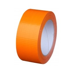 RUBAN ADHESIF EN PVC ORANGE DE CHANTIER 48 mm x 100 METRES DE LARGE