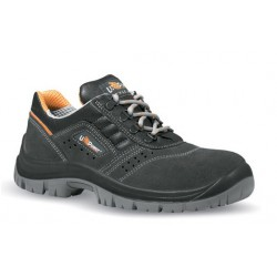 CHAUSSURES DE SECURITE BASSES EN CUIR CROUTE VELOURS AERE S1P SRC ROTATIONAL DE U-POWER