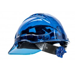 CASQUE DE CHANTIER TRANSPARENT  Peak View Ratchet DE PORTWEST