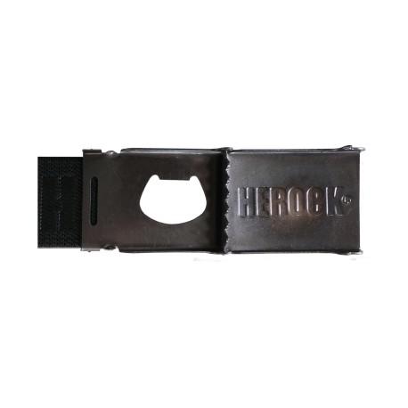 Ceinture élastique noire GLAUCUS