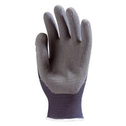 Gants tricotés nylon bleu, enduit latex crêpé gris EUROFLEX 6440 de EUROTECHNIQUE
