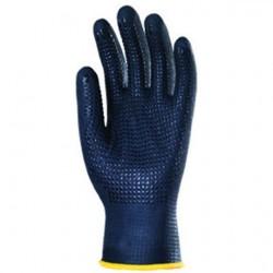 Gants tricotés en Nylon Spandex® enduit nitrile avec picots EURODOTS 6270 de EUROTECHNIQUE