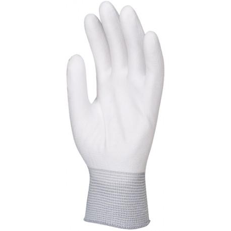 Gants PU blanc tricot polyester 6110 de EUROTECHNIQUE