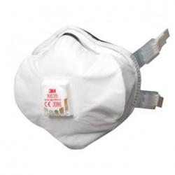 Masque antipoussière FFP3 R D coque avec soupape 8835 de 3M