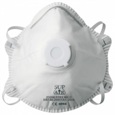 Masque antipoussière FFP2 NR D SL coque, soupape 23206 de SUP AIR