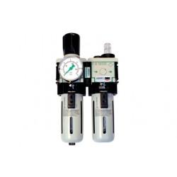 """Ensemble FRL filtres air et eau 1/2"""" complet comprenant : filtre 25 micronse mano détendeur"""