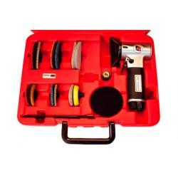 Mini ponceuse orbitale revolver pneumatique en coffret plateaux de 50 & 70 mm Cedrey UT8781K