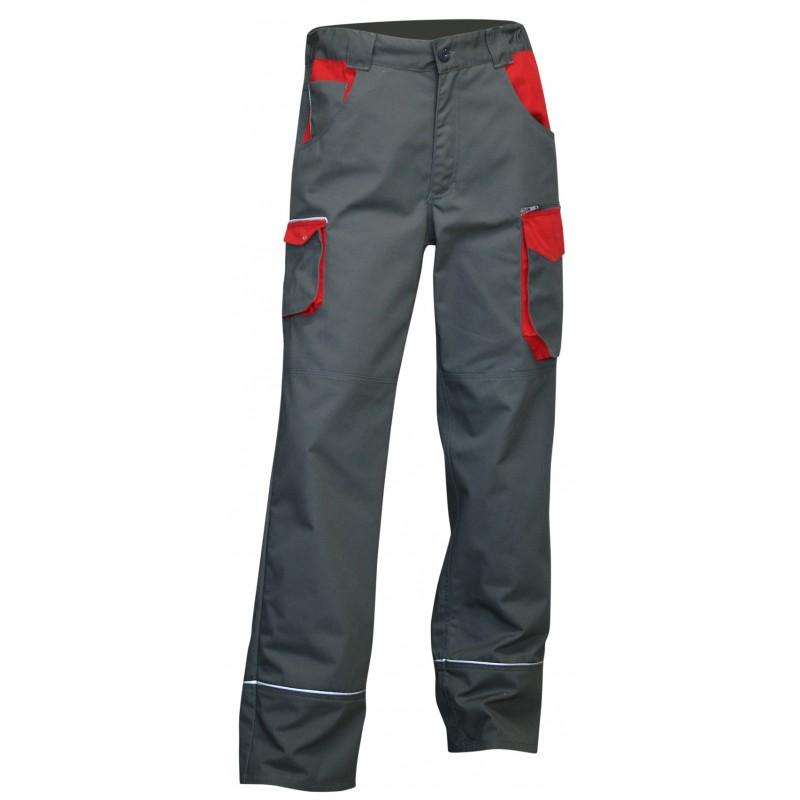 Rouge 110821 Gris Multipoches Lin Travail Lma Pantalon De Bicolore TkXZPiuO