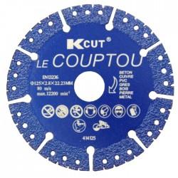 DISQUE DIAMANT TOUT EN 1 DIAM. 125MM LE COUPTOU DE KCUT