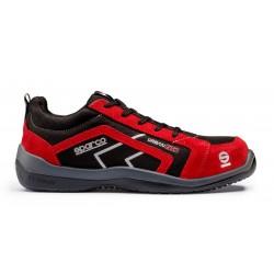 Chaussures de sécurité SPARCO URBAN EVO basses S3 rouge noire basket sneaker de sécurité 07518.NRRS