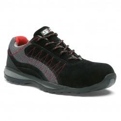 Chaussures de sécurité basses S1P SRA en cuir croute velours noir ZEPHIR DE S24
